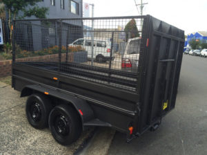 10x5 Box Trailer with the Ramp and 900mm Cage