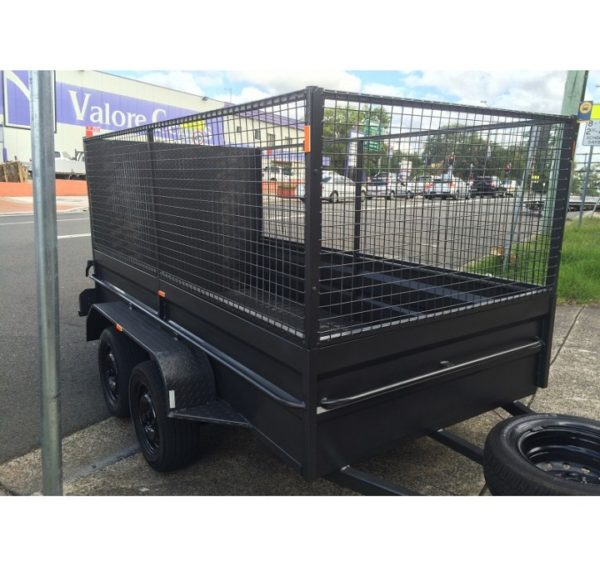 10×5 Box Trailer with the Ramp and 900mm Cage