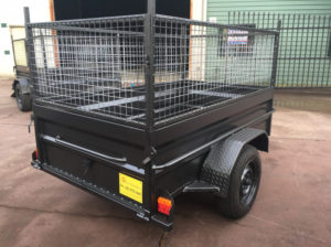 7x4 box trailer high side with 600mm cage on road cost