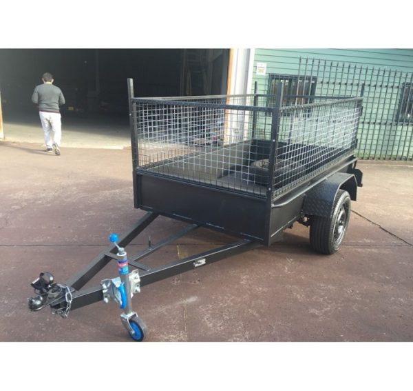7x4 Box Trailer Low Side with 600mm Cage on Road Cost