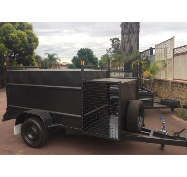 7x4 Enclosed Trailer with Compressor Box