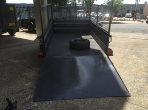 8x5 Box Trailer High Side with Ramp and Cage