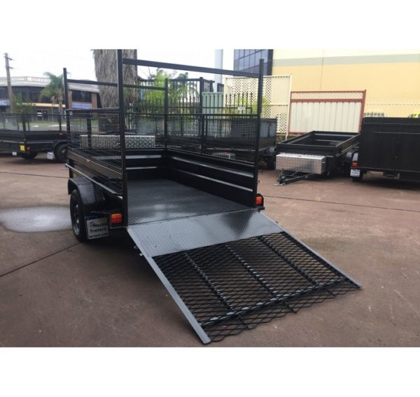 8x5 Box Trailer High side With Ramp and Toolbox