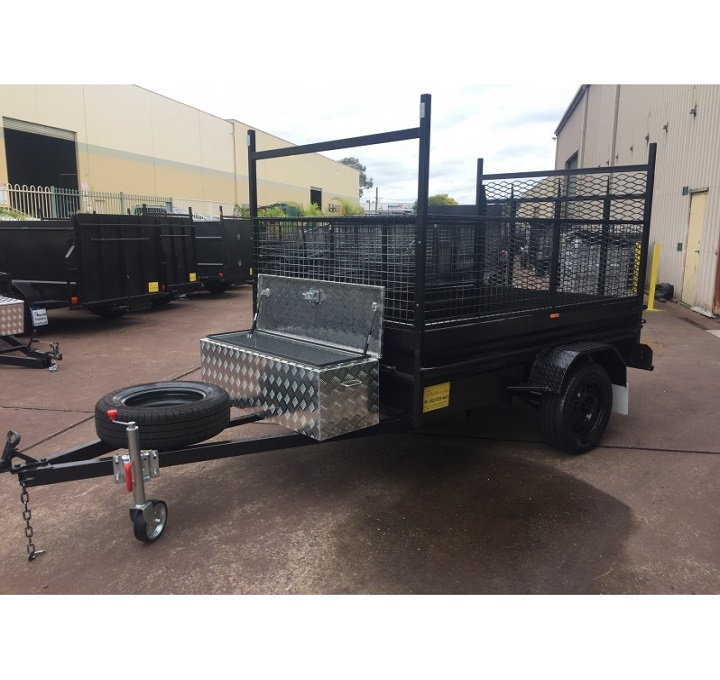8x5 Box Trailer High Side With Ramp And Toolbox Mechid Trailers