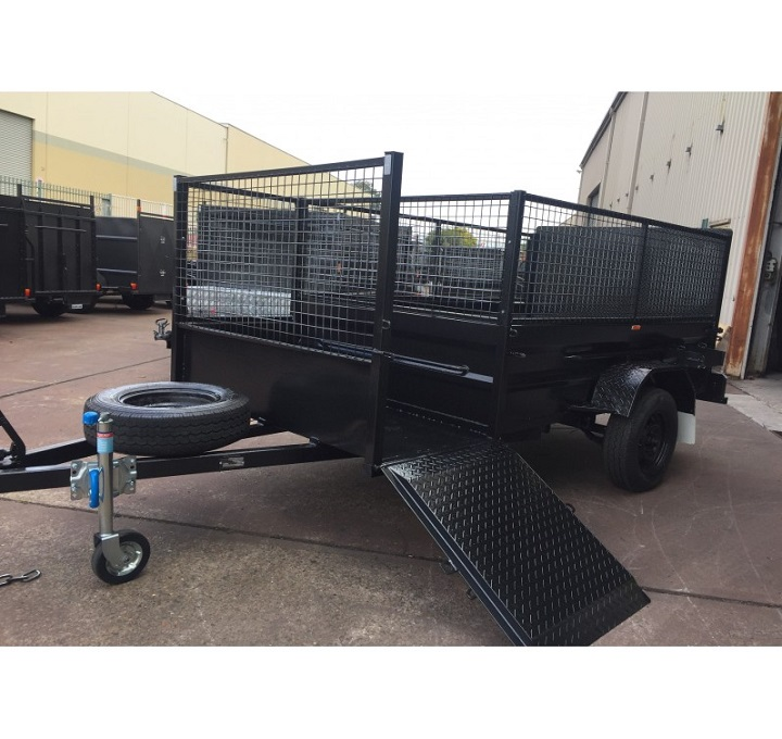 8x5 Lawn Mower Trailer With Ramp Assisted Mechid Trailers