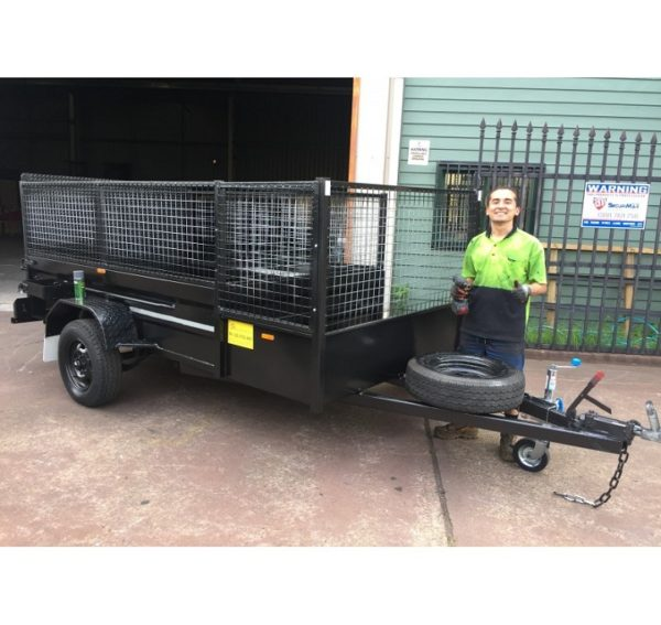 8×5 Lawn Mower Trailer with Ramp Assisted