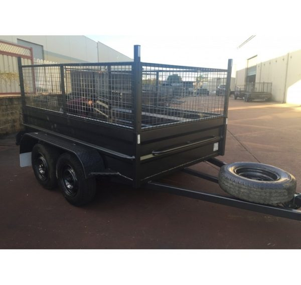 8x5 Tandem Box Trailer High Side with Cage 600mm