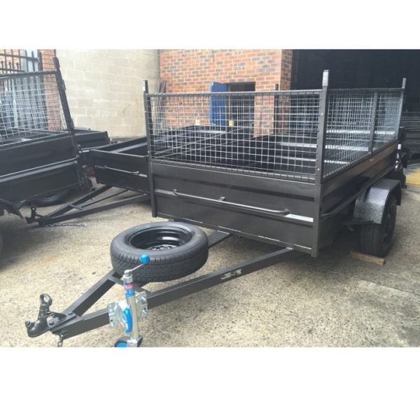 8x5 Box Trailer High Side With 600mm Cage